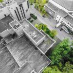 Draufsicht eines Firmengeländes im Ruhrgebiet