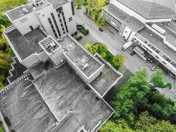 Anlage eines Hotels von oben
