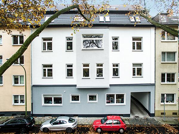 Haus Drohnenfoto Essen Strasse NRW