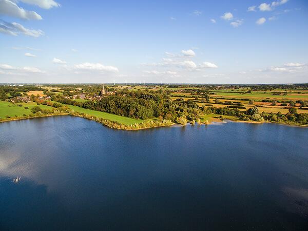 Luftbilder am See NRW grüne Natur Landschaft