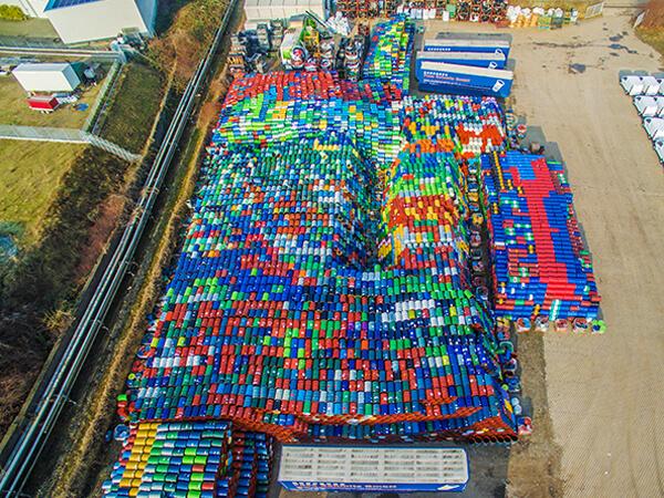 Luftbilder Paletten Lager von oben NRW