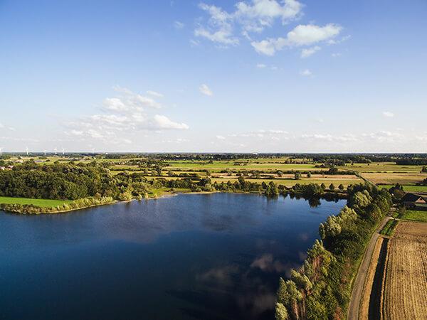 NRW Luftaufnahmen See Landschaft Ruhrgebiet