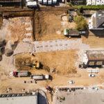Drohnenbild einer Baustelle