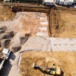 Luftbild einer Baudokumentation