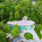 Museum aus der Luft fotografiert